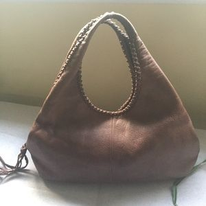 Banana Republic Soft Leather Handbag Brown